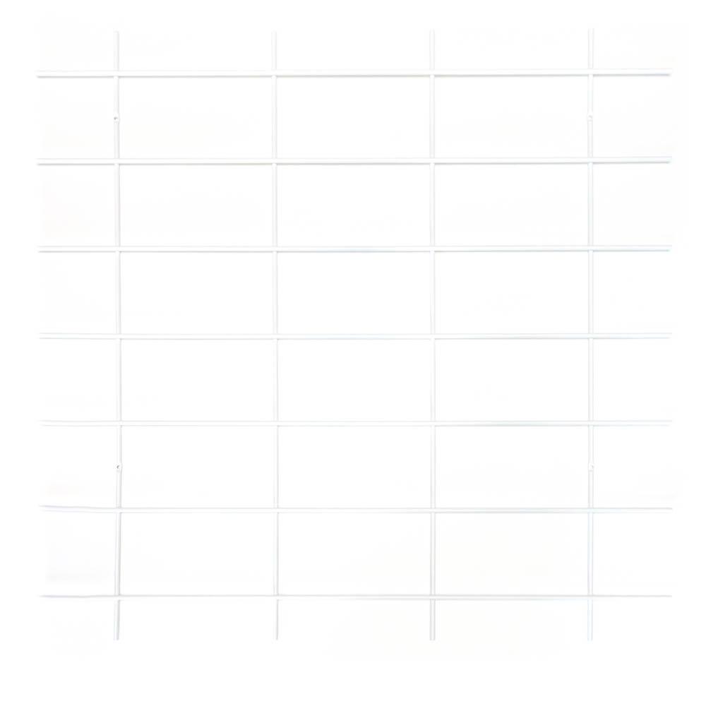 base murale grille blanche étagères Gassien grand format