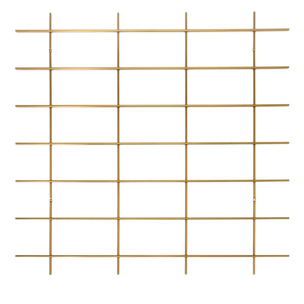 base murale grille laiton doré étagères Gassien grand format
